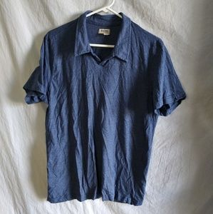 KENNETH COLE REACTION Men's Short Sleeve Polo Lg